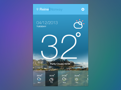 Weather Widget weather psd widget rain icons setting location ipone android app