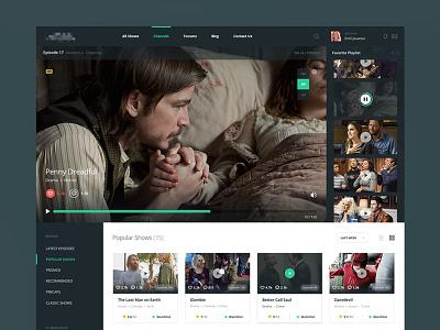 TV Shows (Hollywood) hollywood dramas latest flat web ux ui movies tv entertainment serials
