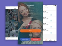 Consumer and Services App fashion services consumer typography design ui ux flat latest finance businees recent