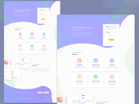 Login Landing Page application ui gradient finance web latest app ux flat