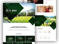 Golf Event Website (2 versions)