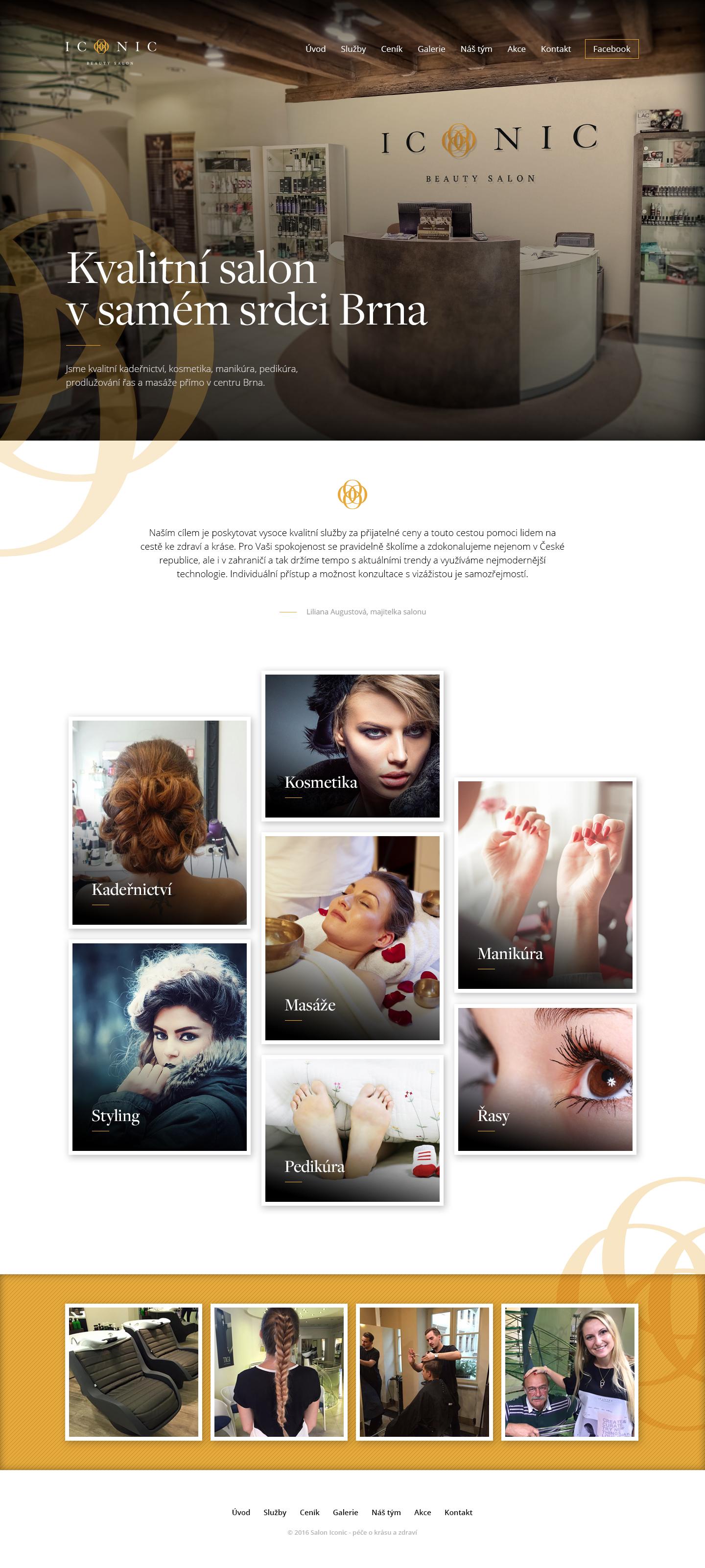 Iconic homepage