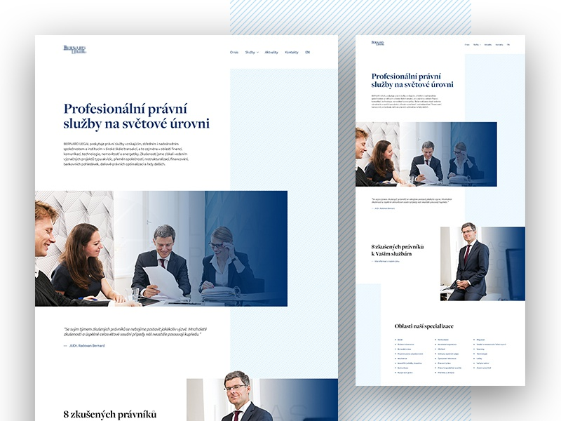 Legal Service - Homepage Concept modern parallax ui responsive gradient stripe pattern legal minimalistic typography layout