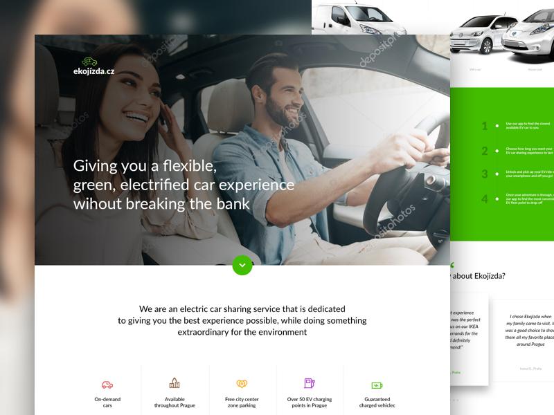 Ekojizda driving electricity future electric vehicle ev rent electric sharing car microsite