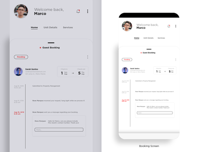 UI Study #3 - Booking Screen