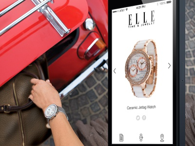 ELLE Time & Jewelry App ios7 ios iphone fashion app application clean watch jewelry ui ux interface