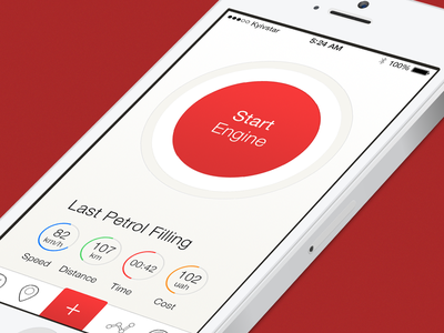 Gas Stations Finder ios flat design ui iphone fuel engine ios7