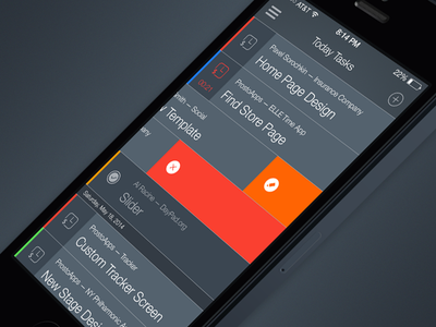 Tayme ios flat design ui iphone time manager ios7 task to-do productivity