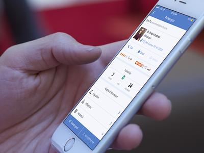 Takiroo iphone healthcare ios profile interface blue health design ui ux