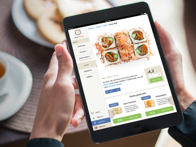 Taki Sushi iPad Menu food interface design ipad japan sushi ui ux