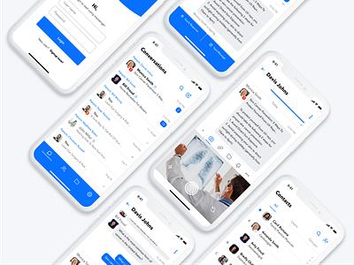 Secure Messenger iPhone X ui ux blue flat appdesign clean iphone interface application ui iphonexs iphonex ios 12 messenger