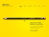 Mixd home page (Pencil)
