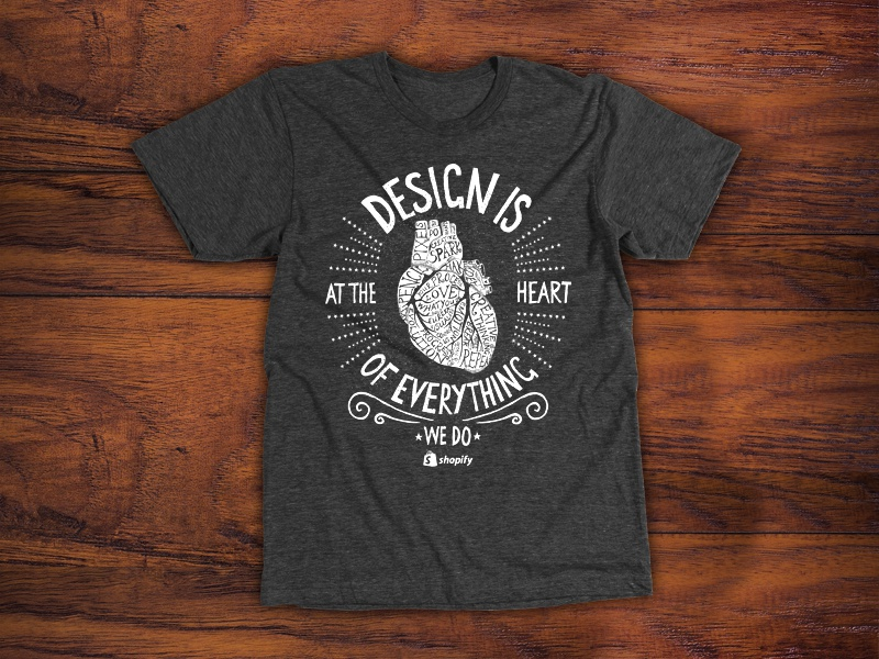 shopify t shirt design by mike kus dribbble