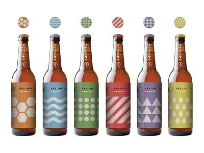 Verdant Branding and label designs. illustration identity branding packaging geometric