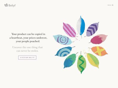 Beliyf homepage design