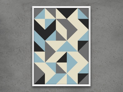 Geometric Poster  art illustration graphic design interior design poster design geometric