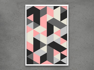 Geometric Poster  poster interior illustration design graphic geometric art
