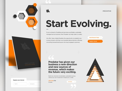 Predatar website design responsive iconography illustration logo branding typography graphic design ux ui web design