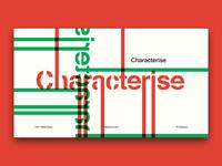 Characterise - slide design