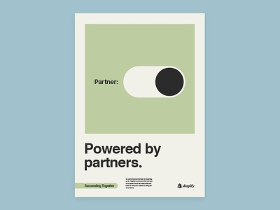 Shopify Partners poster concepts ux ui vector iconography screen print typography shopify illustration poster