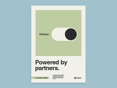 Shopify Partners poster concepts