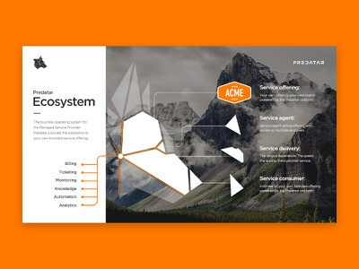 The new channel ecosystem screen for Predatar logo icon geometric vector typography presentation ui ux web design graphic design
