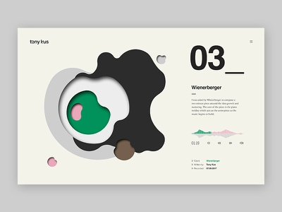Audio detail page fluid geometric chart website icons iconography illustration typography ux ui graphic design web design