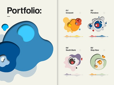Compositions Portfolio screen fluid geometric chart website icons iconography illustration typography ux ui graphic design web design