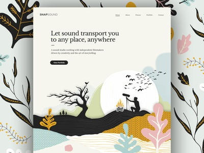 Snapsound Website web design ux icon vector paint graphic design typography ui branding website illustration