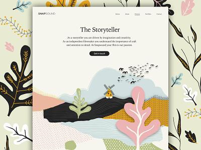 Snapsound Website art web ux icons ui design web design icon vector website design paint graphic design typography ui branding website illustration
