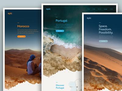 Epic Travel Website typography ui design vector website logo icon illustration graphic design ui branding web design
