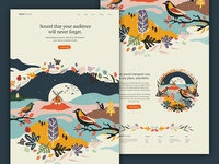Snapsound Homepage (In progress) design vector paint graphic design typography ui branding website web design illustration