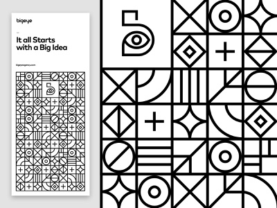 Bigeye geometric ui design logo website design graphic design typography website branding web design illustration