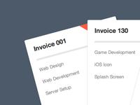 Mini Invoices