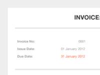 Invoice Primary Template