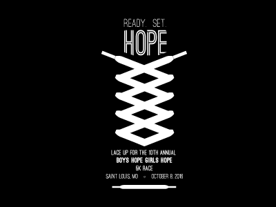 Lace Up for Hope | 5K T-Shirt Design