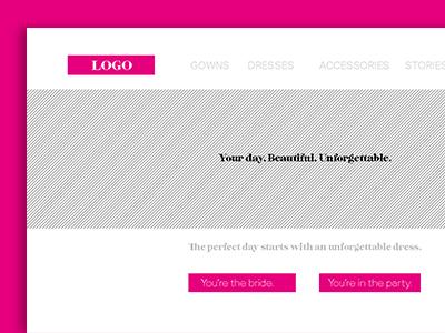 Preliminary Mockup - A Bridal Website