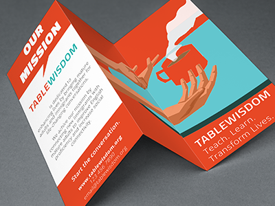 Table Wisdom _ Brochure mockup non-profit design brochure