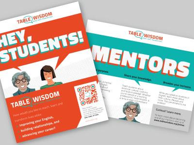 Table Wisdom_Flyer and Brochure design flyer brochure non-profit