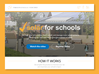 Solar for Schools_Landing Page Redesign simple complex uk germany startup schools solar
