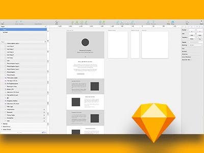 Psi Graphics Site Redesign in Sketch sketch wireframe design website