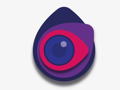 Place-based Photography Logo eye location pin lens camera logo photography