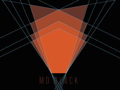 Logo Design for MD Black Photograhy optics lens waves light elegant paper material logo