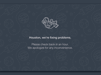 Space-Themed 404 Page 404 simple astronaut space