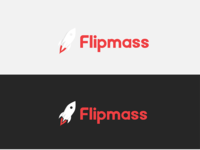 Brand identity - logo and custom logotype for Flipmass
