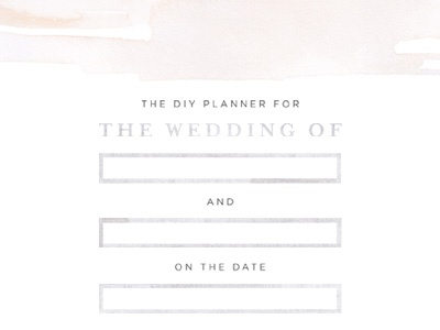 Wedding Planner Cover type typography border grey details watercolor cover design wedding