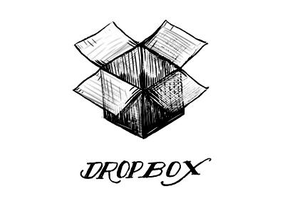 Dropbox playoff pen ink illustration drawing drop box