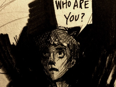 Who Are You? boy illustration ink panel wip lettering graphic novel