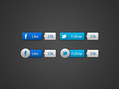 Fb   twitter buttons