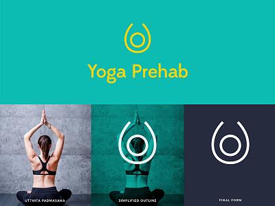 Yoga Prehab graphic profile branding minimal icon logo fitness health body yoga